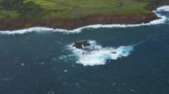 Waves on Elephant Rock Stock Footage