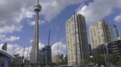Toronto Skyline, CN Tower Stock Footage