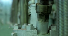 Vibration of fuel pump pipes and fittings. Stock Footage