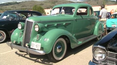 classic car show, sequence desoto - stock footage