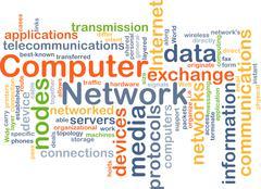 Computer network background concept - stock illustration