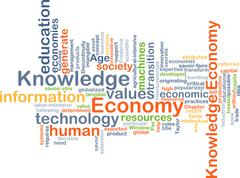 Stock Illustration of Economy knowledge background concept