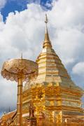 Wat Phra That Doi Suthep is tourism of Chiang Mai, Thailand. Stock Photos