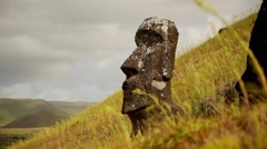 Easter Island Statue 05 HD - stock footage