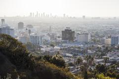 Hollywood Smog - stock photo