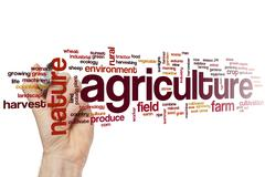 Agriculture word cloud - stock illustration