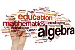 Algebra word cloud Stock Illustration