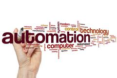 Automation word cloud Stock Photos