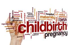 Childbirth word cloud - stock photo