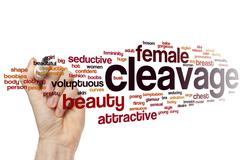 Cleavage word cloud Stock Photos