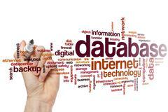 Database word cloud - stock photo