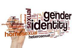 Gender identity word cloud - stock photo