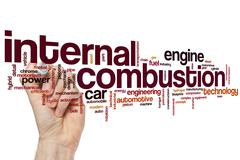 Internal combustion word cloud - stock photo