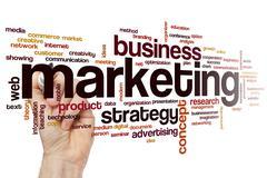 Marketing word cloud Stock Photos