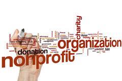 Nonprofit organization word cloud - stock photo