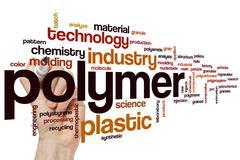 Polymer word cloud Stock Photos