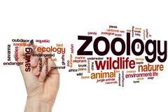 Zoology word cloud - stock photo