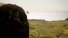 Easter Island Statues 21 HD Stock Footage