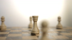 Rotating White Rook Chess Piece Stock Footage