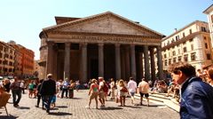 4K, UltraHD Timelapse outside the Pantheon, Rome Stock Footage