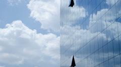 Corporate Building Clouds Timelapse - stock footage