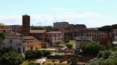 4K, UltraHD Timelapse of the Roman Forum area in Rome Stock Footage