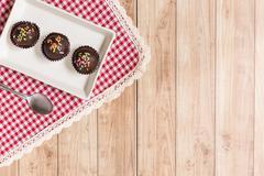 Chocolate Ball Cake - stock photo