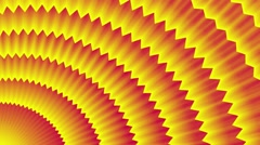 Red-yellow background. radial movement of jagged lines Stock Footage