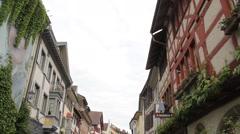 Beautiful Village of Stein Am Rhein Stock Footage