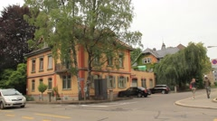 Suburbs in Swiss or German Town Stock Footage
