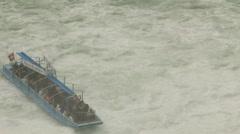 Rhine River tourist Area with Rapids Stock Footage