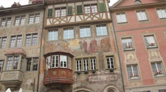 Fairy-tale German or Bavarian Village on Rhine May 2015 - stock footage