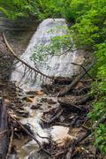 Silver Cascade Waterfall - stock photo