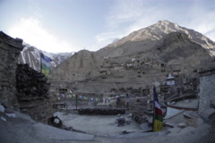 Village in the mountains, Nepal, Time Lapse Stock Footage