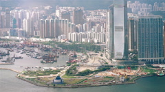 hong kong victoria harbour - stock footage