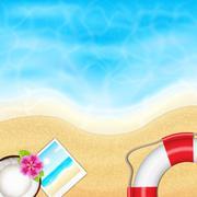 Summer vacation - stock illustration