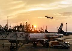 Fragment of Sheremetyevo Airport Stock Photos