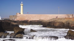 Estuary of the Bouregreg, Rabat, Morocco - stock footage