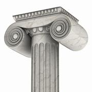 Greek column marble in white background Piirros