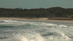 Beach, Pacific ocean coastline, Waves, New South Wales coast, Australia HD Stock Footage