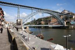 Dom Luis I Bridge in Porto - stock photo
