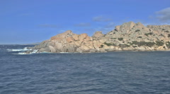 Capo Testa Granite Rock Coastline Sardinia Italy - 29,97FPS NTSC Stock Footage