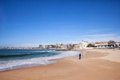 Estoril Beach in Portugal - stock photo