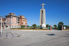 Christ the King Monument in Portugal Stock Photos
