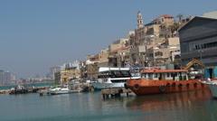 Old port of Jaffa in Tel Aviv Israel Stock Footage