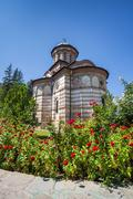 Cozia monastery church on a sunny summer day - stock photo