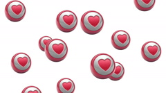 Falling heart icons. Looping. Alpha channel is included. Stock Footage