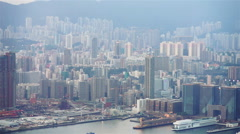 Hong Kong skyline - stock footage