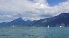 Garda lake in Italian Alps, #1 Stock Footage