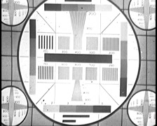16mm Film, TV Test Pattern Stock Footage